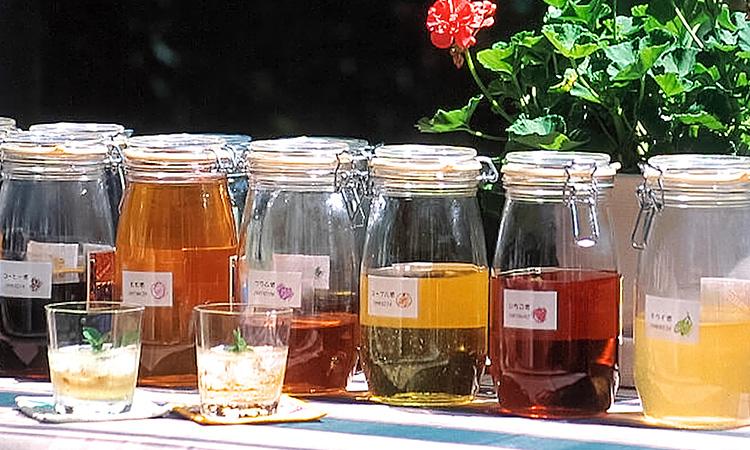 30種類の自家製果実酒